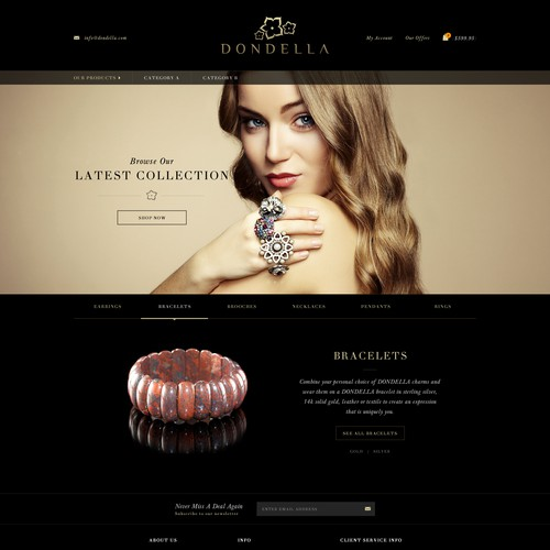 Create a Simple but Luxurious jewellery  webpage