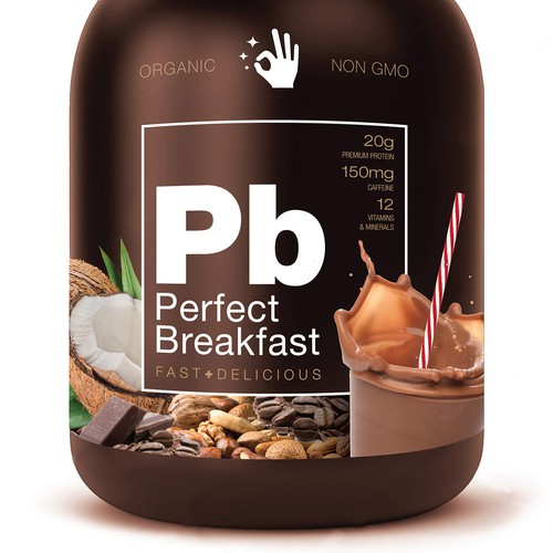 Standout label for Protein based Breakfast