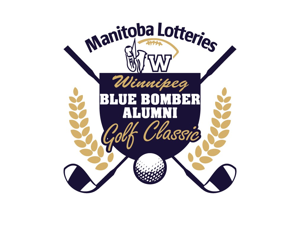 Help Manitoba Lotteries Blue Bomber Alumni Golf Classic with a new logo