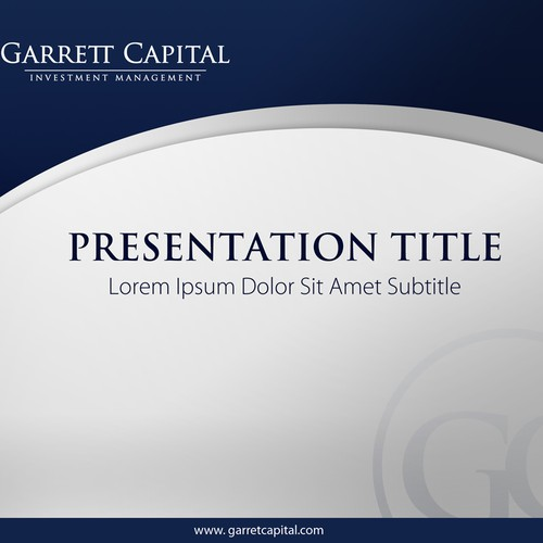 Garrett Capital needs PowerPoint template (background 2 slides only)