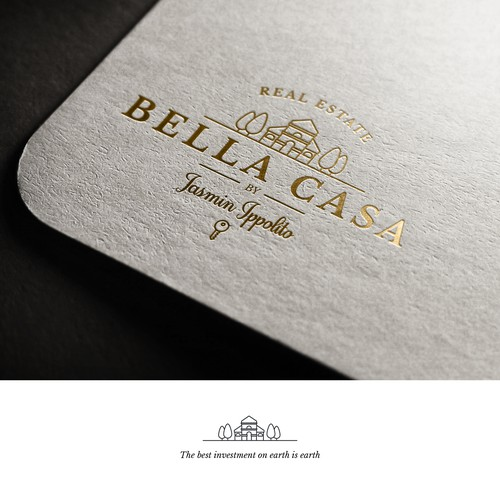 Logo & brand identity for Bella Casa, real estate company.