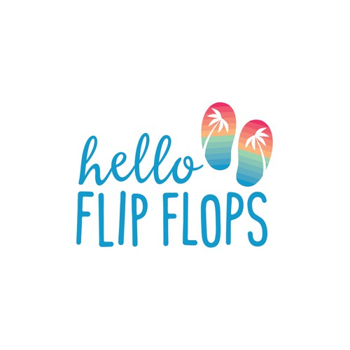 Logo concept for a flip flop company