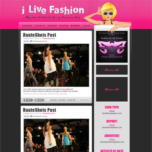 WORDPRESS Design Young, Fun Fashion Blog for Teen Girls