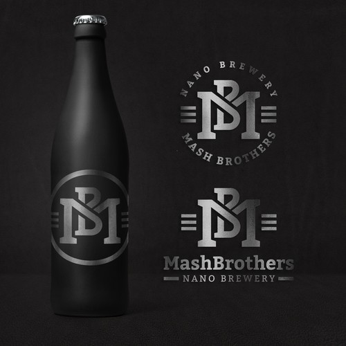 Logo for a nano brewery.