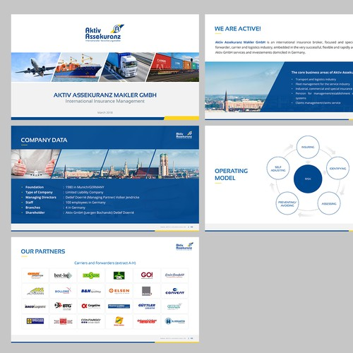 Powerpoint redesign for AKTIV insurance brokers