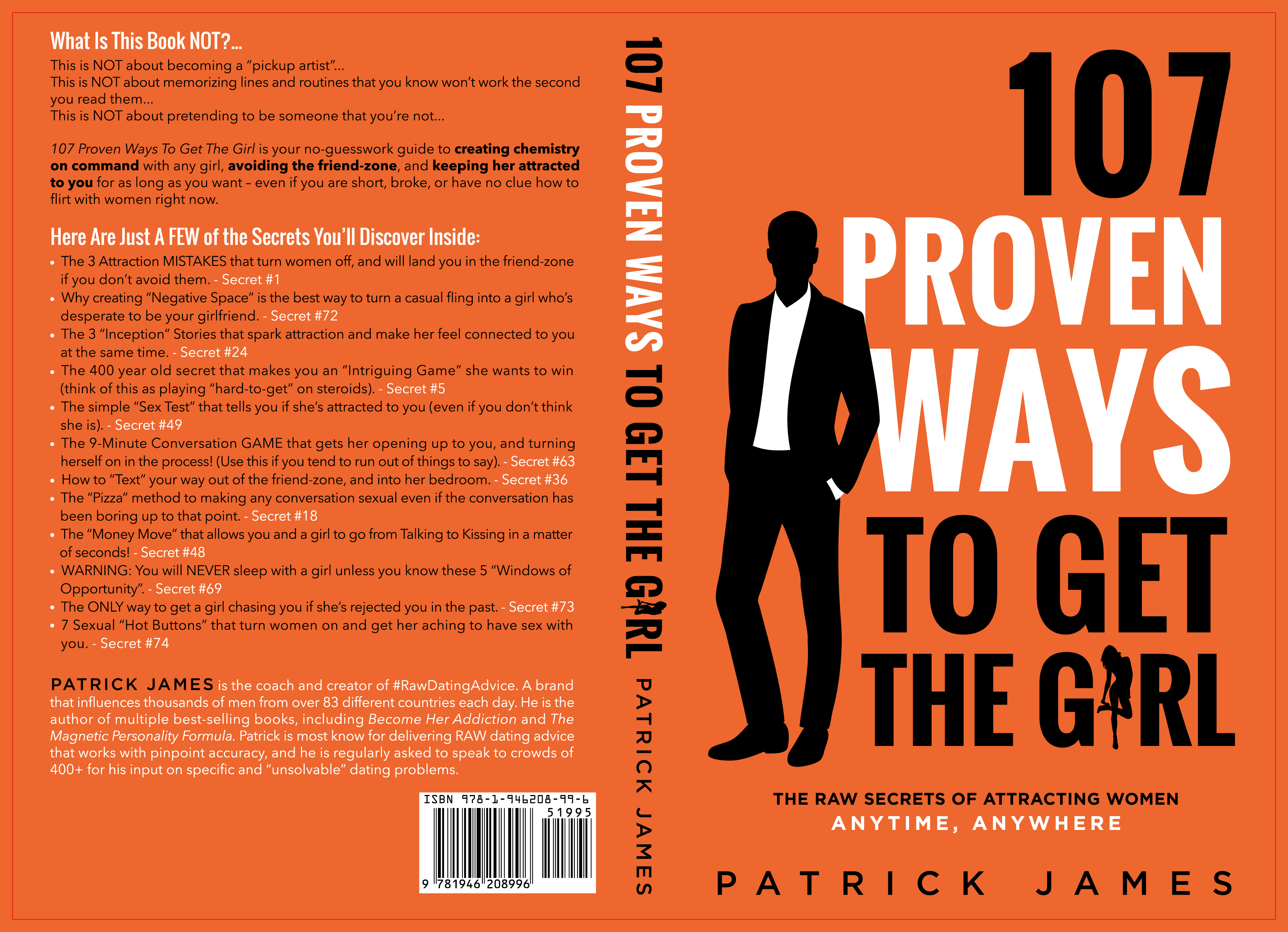 "Needed: A Book cover that POPS! ""107 Proven Ways To Get The Girl"""