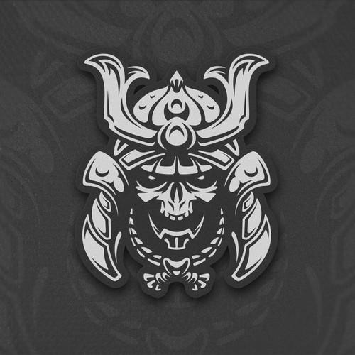 Samurai skull helmet design