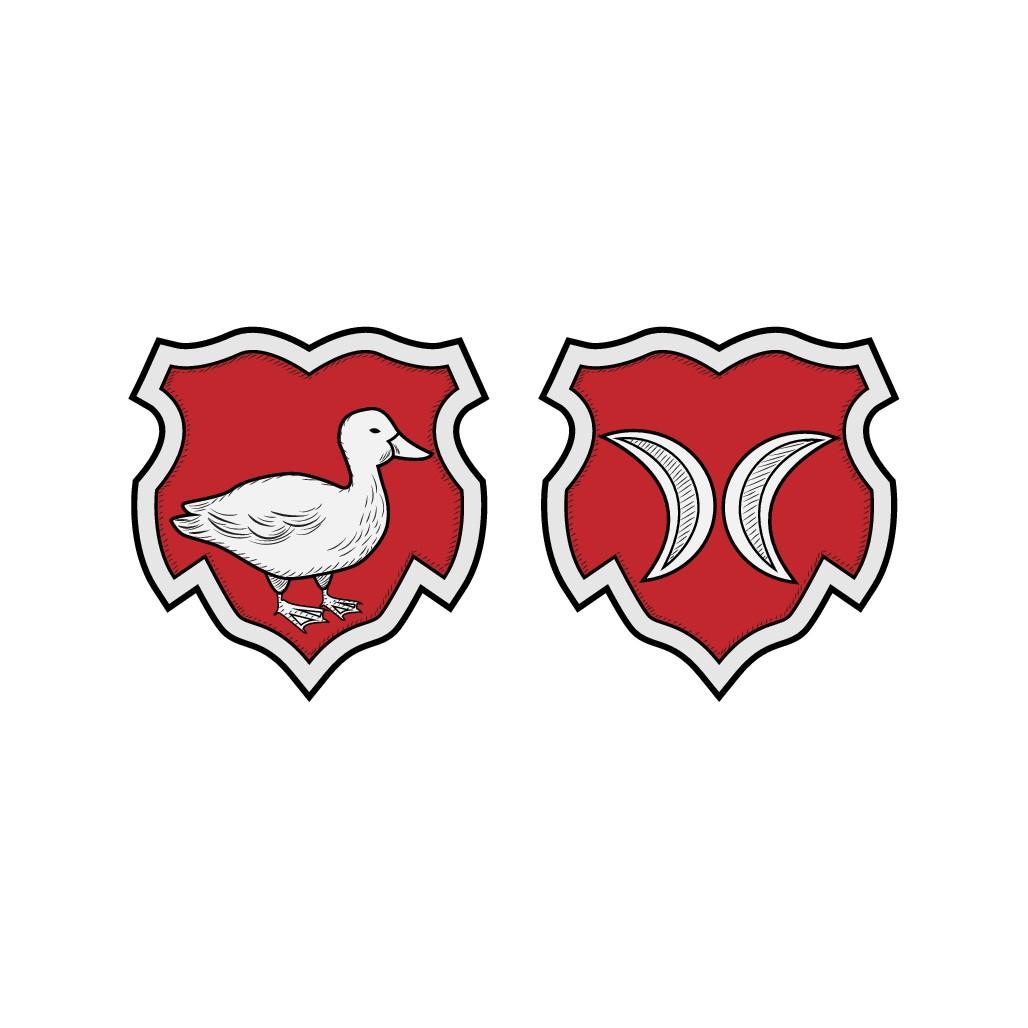 Design a timeless dual family crest logo