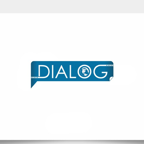 Create a logo for crowd-controlled conversation series, Dialog.