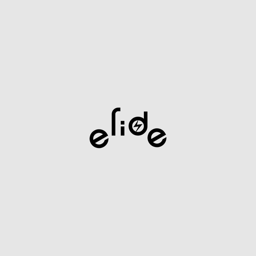 Cool wordmark for electric two wheeler: e-ride