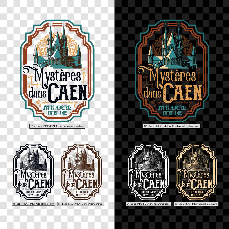 Logo/illustration pour une visite insolite sur des faits divers macabres et autres légendes ds Caen