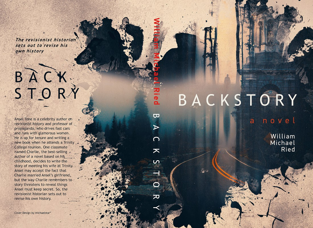 Cover for Backstory, a literary novel and surprise mystery