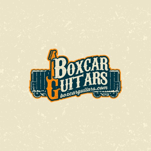 Boxcar Guitars needs a vintage rail car motif logo design!