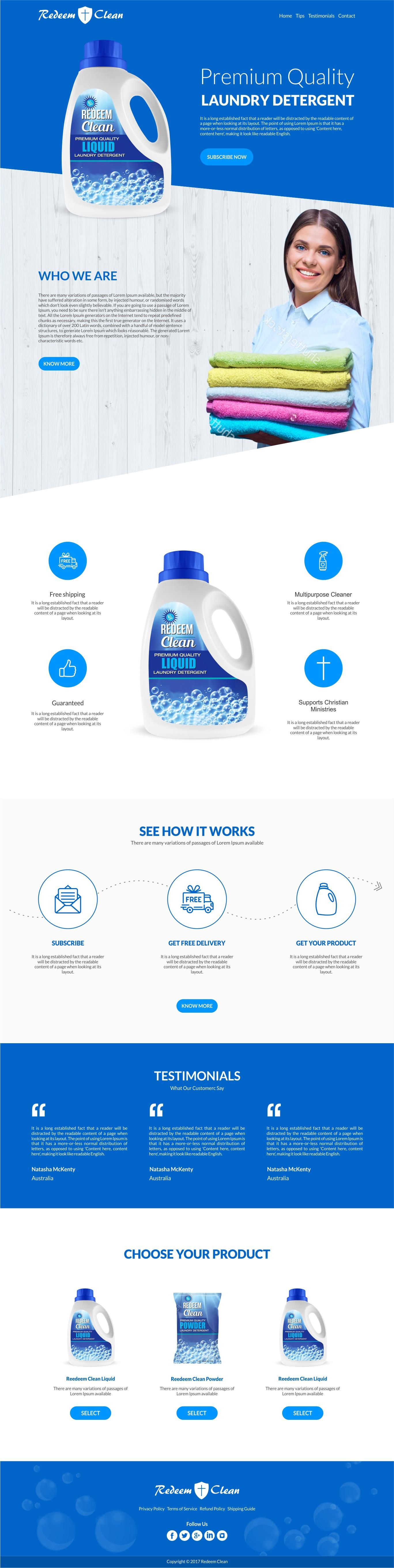 Laundry Detergent Suscription Website