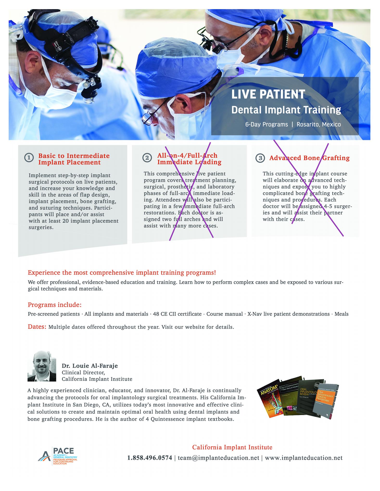 Live Patient Zygomatic Implant Training