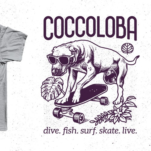 T-shirt design for Coccoloba