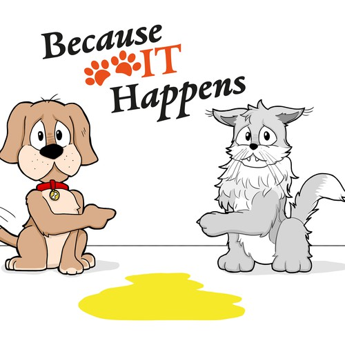 Cute Cat & Dog Mascots Needed (cartoon style)