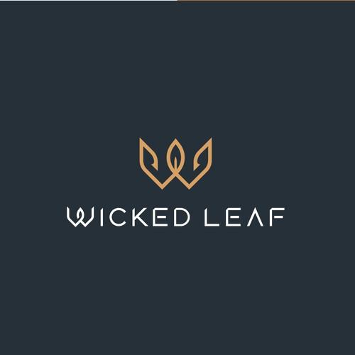 Wicked Leaf Logo design.