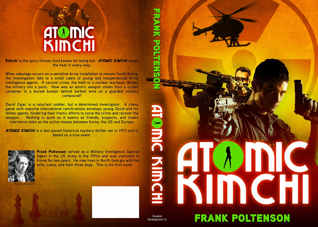eBook cover design for a new mystery thriller, ATOMIC KIMCHI