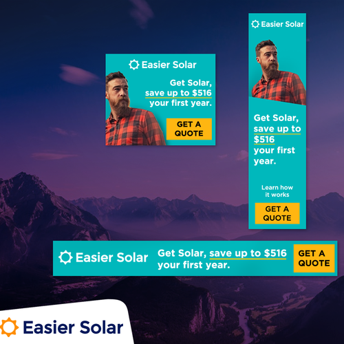 Banner Design for Easier Solar