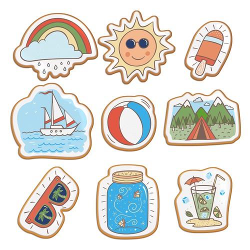 Summer Cookies designs.