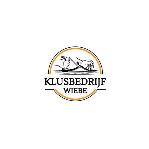 Klusbedrijf Wiebe Logo design