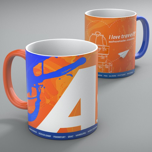 Mug design for A&O Hostels-Hotels
