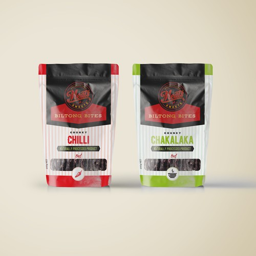 Packaging design for pouch Biltong bites