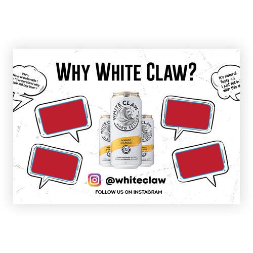 White Claw Screen Cover