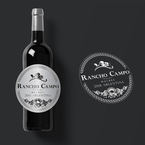 Silver Wine Label