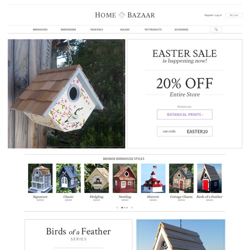 Birdhouse & Pet Accessories Website
