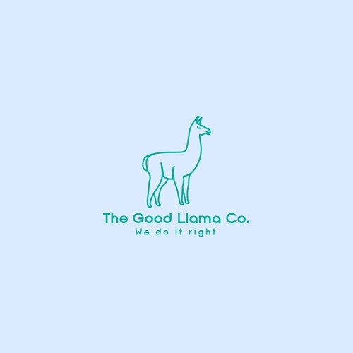 llama logo concept