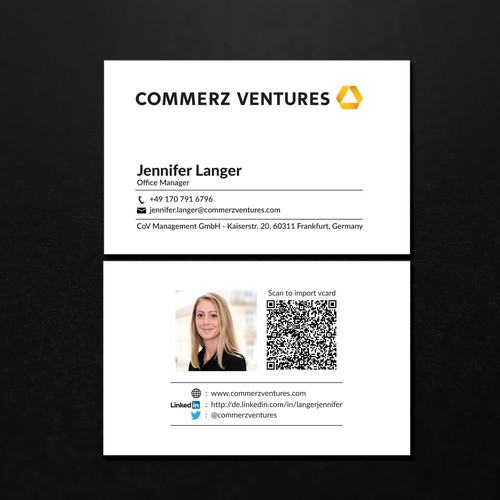 Commerz Ventures Business Card Design