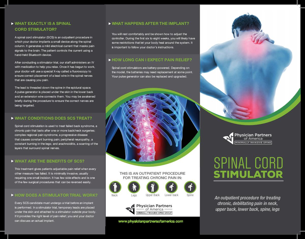 Spinal Cord Stimulator brochure