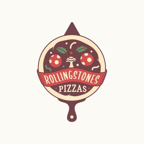 Pizza Food Truck Logo