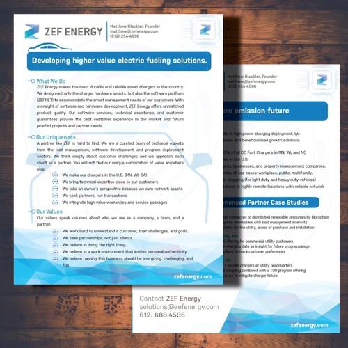 Flyer Design for ZEF Energy