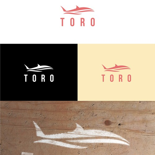 Logo for small boat named Toro that catches Tuna