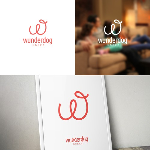 Make a company logo for residential real estate company, Wunderdog Homes!