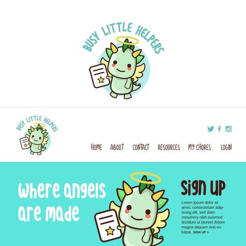 Children's Character Logo Design