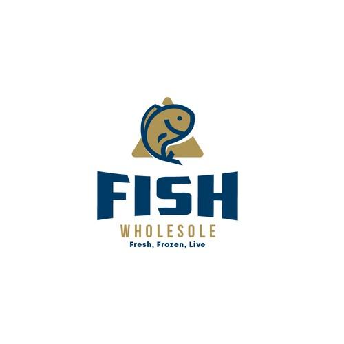 Bold logo for a a Fish company