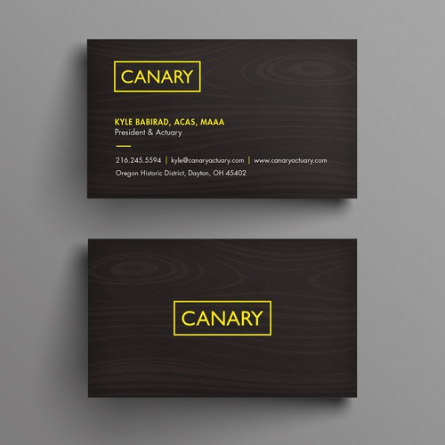 Canary elegant bus card