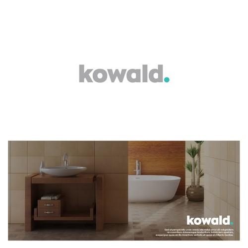 A minimal logo for a company selling bath accessoires