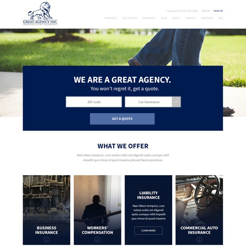 GreatAgency Landing Page