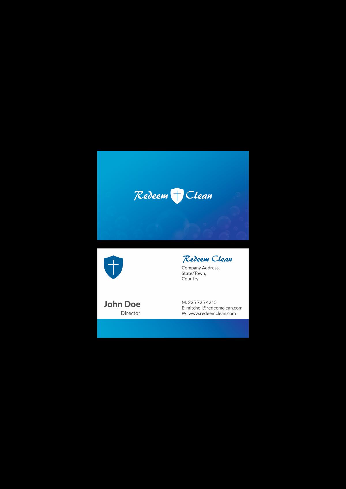 Redeem Clean Business Card