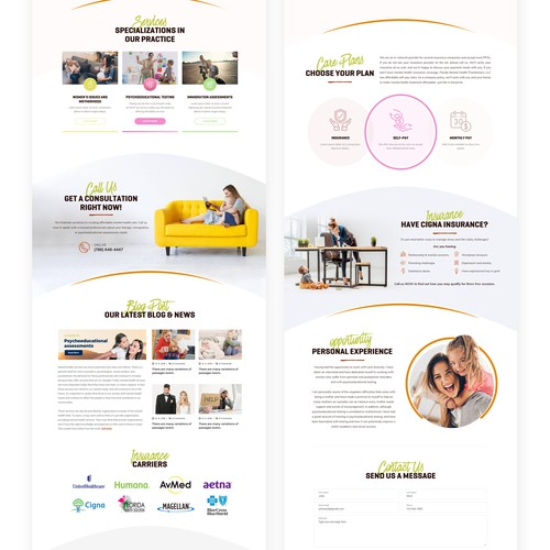 Mental health private practice web design