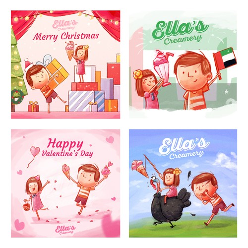 Fun Holidays illustrations