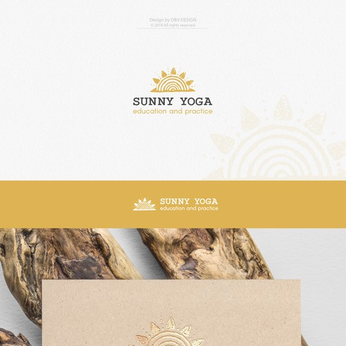 Spiritual logo design for the yoga instructor