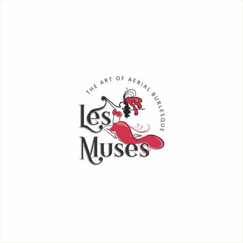 Seductive logo design for a burlesque troupe