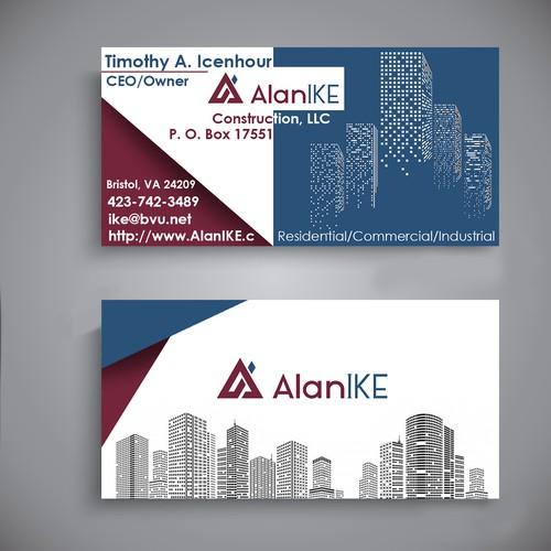 Diseño de Tarjeta de Presentación AlanIke