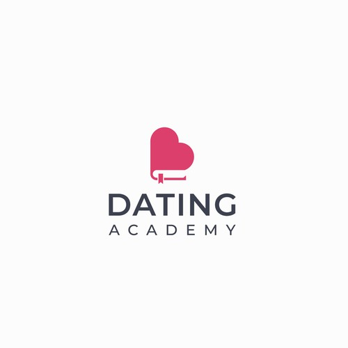 Luxurious logo for Dating Academy.
